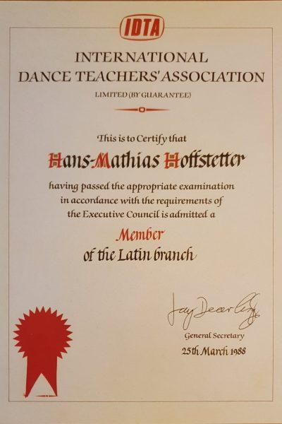 IDTA-Diplom