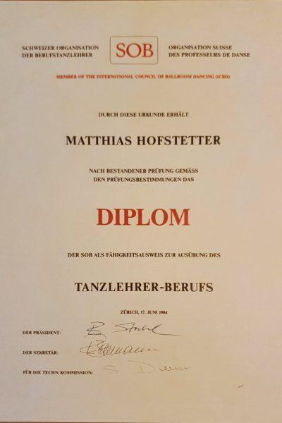 Swissdance-Diplom